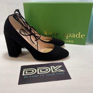 Kate Spade Gena Heel Size 8.5M Italian Black Suede